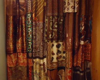Shades of Black Gypsy Boho Curtains 63 long by SeaGypsyCaravan