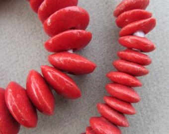 Red Ashanti Beads