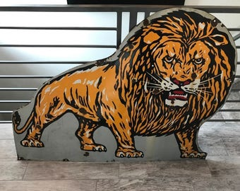 Extremely Rare Lyon Van Lines Metal Porcelin Sign