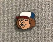 """Stranger Things Dustin Enamel Pin ( 1"""" hard enamel lapel pin or hat pin )"""