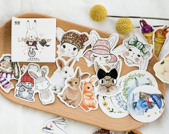 45 Pcs Fashion Planner Stickers Decorative Stickers Die Cut Stickers