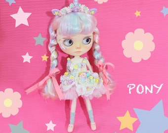 Blythe Pony Flowers Headband