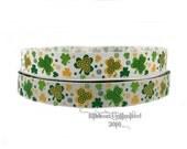 10 Yds ***SaLE!!!! WHOLESALE 7/8 Inch SWIRLY SHAMROCKS St Patrick's Day grosgrain ribbon Low Shipping Cost