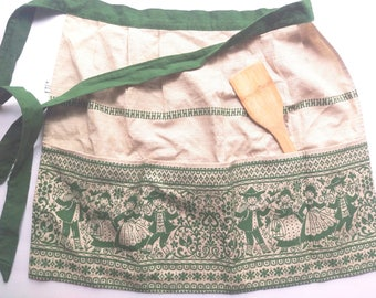Vintage Apron with folk embroidery
