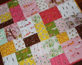 Heather Ross Tiger Lily Patchwork Girl Quilt