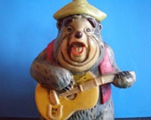 Vintage Mid Century Walt Disney World Souvenir - Country Bear Jamboree - Big Al Bank