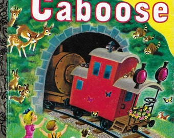 Vintage 1970's Children's Book - A Little Golden Book - The Little Red Caboose