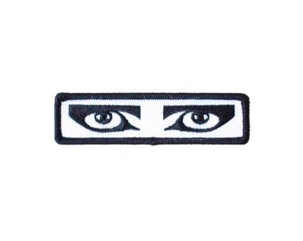 Goth Eyes Iron-On Patch