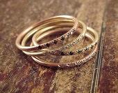 14K Rose Gold Ring Pave Diamond Ring Pink Gold Stacking Rings 14K Rose Gold Band Womens Ring Thin Band Rose Gold Wedding Band Pink Gold Ring