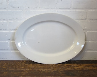 "Large Antique T&R Boote Royal Patent 17"" Stone China White Ironstone Serving Platter"