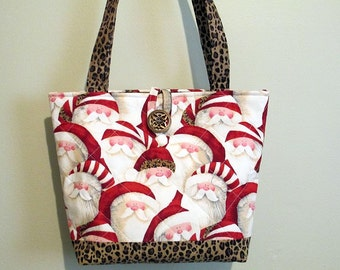 Santa Purse/Tote, Christmas Purse/Tote, quilted