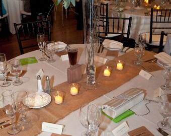 Burlap Table Runners 12x60, 72, 84, 96 or 120 Set of Ten/Burlap Rustic Wedding Table Decor