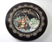 Archer and Bird Plate, Vintage Decorative Plate, Tsar Sultan Russian Folklore Collectible, Villeroy & Boch, Marchen Aus Dem Alten Russland