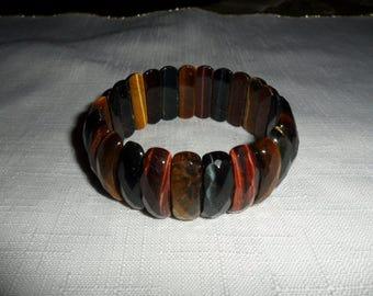 Vintage Multi Color Tiger Eye Stretch Bracelet