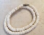 White Sand Puka Shell Necklace