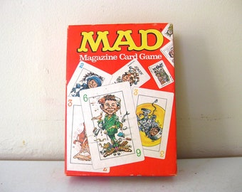 1980 Vintage MAD Magazine Card Game // Alfred E Newman