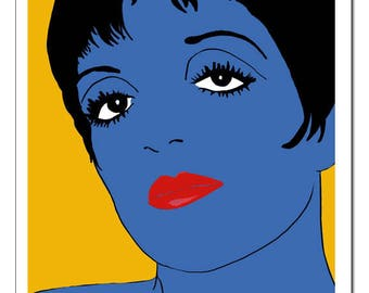 Liza Minnelli Pop Art Blue Print-Original