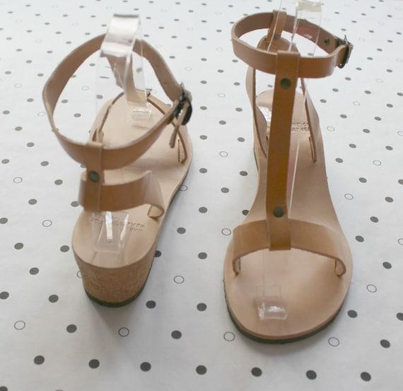 SALE!Leather pumps, greek sandals size 39 US 8-8.5