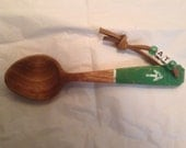 The Trail Spoon  green with with AT symbol and leather strap wit AT beads