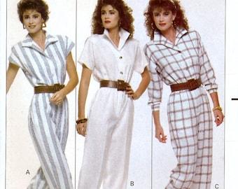 Butterick 6087 Vintage 80s Sewing Pattern for Misses' Jumpsuit - Uncut - Size 12, 14, 16