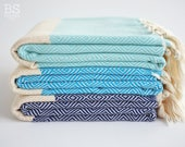 NEW / SALE 50 OFF/ BathStyle / Diamond Style Turkish Beach Bath Towel Peshtemal / Bath, Beach, Spa, Swim, Pool Towels