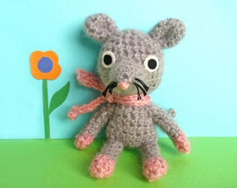RESERVED - Alice the crochet mouse, amigurumi mouse, soft toy mouse, gift for kids