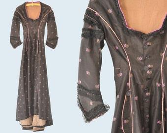 1800s Purple Flower Dress size XXS
