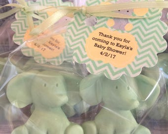Mint Green Baby Elephant Party Favor Soaps: Elephant Soap, Baby Shower, Baby Sprinkle, Baby Shower Favors, Birthday Favors