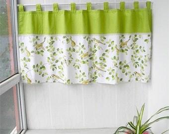 Cafe Curtain Valance Window Treatment Topper Kitchen Bathroom Kids Nursery Living Room