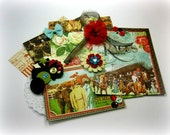 Graphic 45 Off to The Races Inspiration Kit, Embellishment Kit for Scrapbook Layouts Cards Mini Albums and Paper crafts
