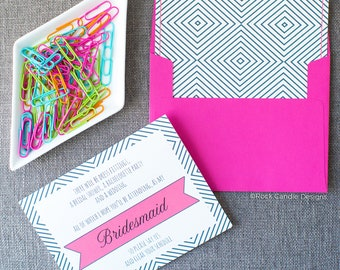 Clear Your Schedule and Be My Bridesmaid Card / Maid of Honor Proposal / How to Ask Bridesmaid / Will You Be My Bridesmaid Funny / Wedding