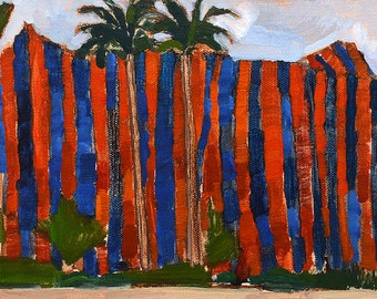 Termite Tent in Bankers Hill, San Diego Landscape Painting