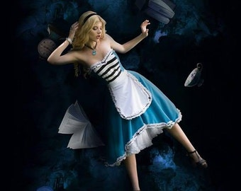 Alice is wonderland dress By TiCCi Rockabilly Clothing