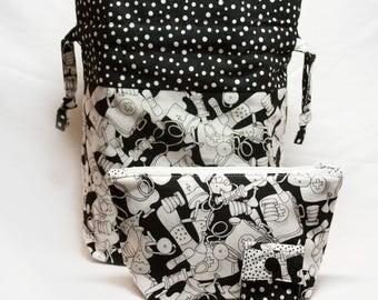 "New! ""Medical Instruments"" 2-Piece Knitting Bag Set"