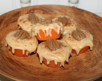 PUMPKIN PECAN WAFFLES Scented Primitive Grubby Iced Cupcake Scented Wax Tarts Melts Bowl Fillers Highly Scented