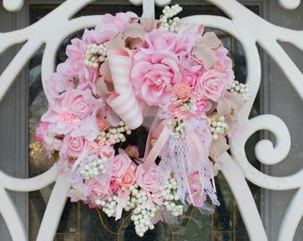 Pink Princess Flowering Roses Beautiful Victorianna Grace Lovely Pink Princess Roses and Romance Garden collection glam French wreath