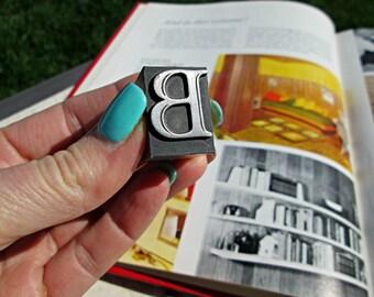Antique Metal Letterpress - Presenting the Letter 'B'