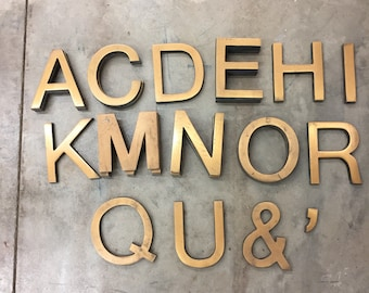Vintage brass letters mountable