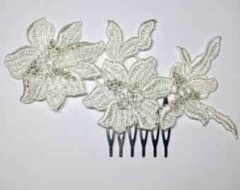 Lace Floral Bridal Comb