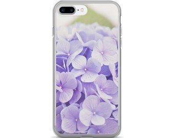 Hydrangea iPhone Case, Purple Flower iPhone Case, Floral iPhone Gift for Gardener, Purple Hydrangea iPhone Cover, Gift Idea for Her Under 30
