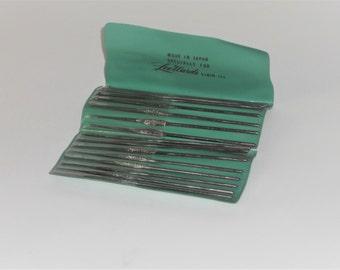 Metal Crochet Hooks 00-14 Lee Ward Vinyl Case Set Vintage