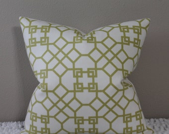 "Windsor Smith for Kravet -Pelagos in Lime/Chartreuse - 16"" - 24"" Square Sizes - Decorative Designer Pillow Cover"
