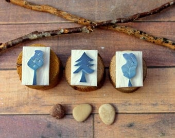 3 Mini carved stamp Forest