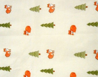 Foxes In The Forest  printed basic cotton fabric Fat Quarter ready to ship