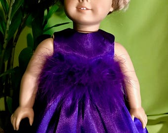 American Girl Doll or 18 Inch Doll Purple Party Dress