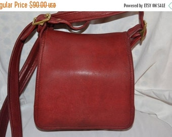 ON SALE COACH~Coach Bag~ Rare ~Vintage Coach~Coach Red Bag~ Rare~Crossbody