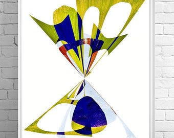 modern mid century, retro art, mod art, eames, geometric art, circles, modern painting, abstract painting, mid century modern, office art