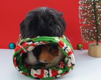 Holiday guinea pig bed, Christmas guinea pig, guinea pig gift