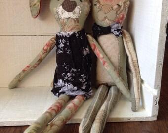 Eco friendly stuffed bunnies, eco toy, plushie, bunny, handmade