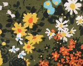 60s Vintage Floral Fabric Mod Fabric 3 yards